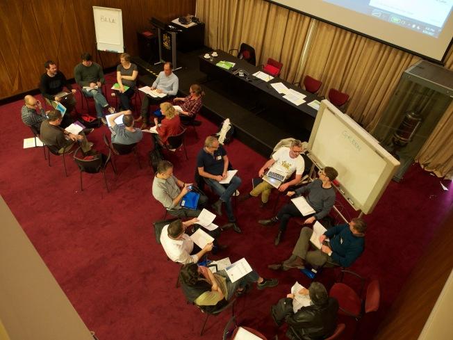 Examiners hard at work